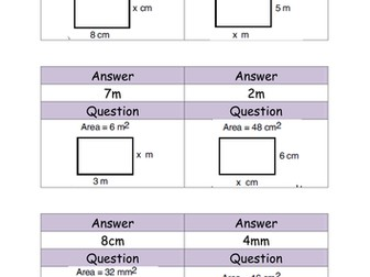 Finding the missing length of a rectangle