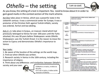 Othello: Printable Worksheet: Setting and Context