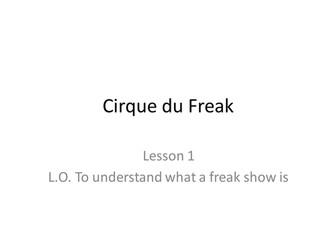 Darren Shan Cirque du Freak series of lessons