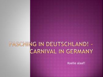 Fasching in Deutschland!