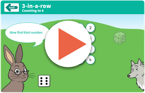 3 in a row dice game https://www.tes.com/teaching-resource/interactive/wolf-maths/topic1/3inarow-counting/index.html