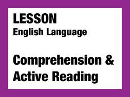 English Lesson - Comprehension
