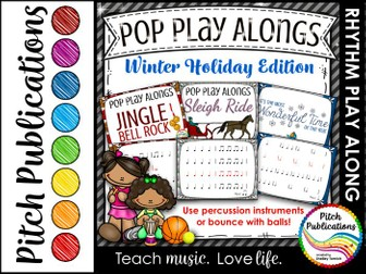 Pop Play Alongs - Holidays (Sleigh Ride, Jingle Bell Rock, It's the Most Wonderful Time of the Year)