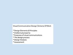 Visual Communication Design | Graphic Design | Scheme Of Work |