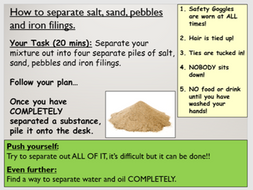how to separate salt and sand without water