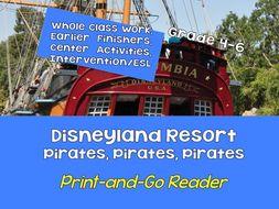 FREE! Print-and-Go Reader: Grades 5-8  Disneyland Resort Pirates SPaG, Non-Fiction, CCSS, Centers