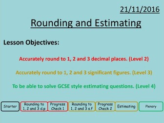 Rounding and Estimating (differentiated)