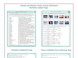 Seasons and Weather Combo Activity Worksheets