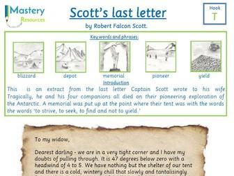Robert Falcon Scott's last letter comprehension KS2