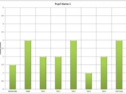pupil tracking sheet for exercise books by gavincooke89 teaching