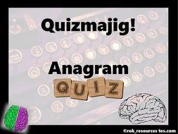 Word Quiz Anagrams - Quizmajig!