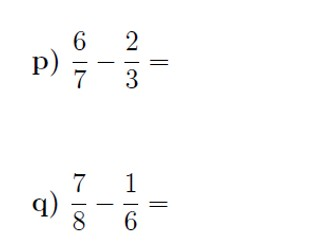 Subtracting fractions worksheet (with solutions)