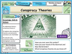 Conspiracy theories and Extremist narrative