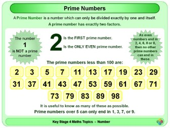 Odd, Even, Prime and Triangular Numbers KS4