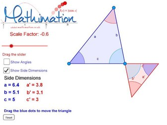 Similar Triangles Visualisation