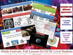 Hindu Festivals - Complete Teaching Resources: [Maha Shivaratri , Ganesh Chaturthi,  Raksha Bandhan, Diwali, Holi, Navratri, Kumbha Mela] KS3 and KS4 GCSE