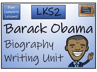 LKS2 Barack Obama Biography Writing Activity