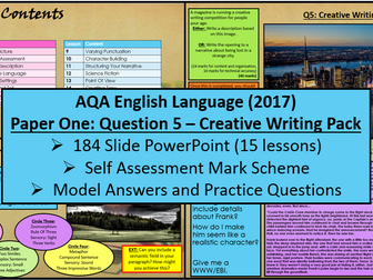English Language Paper One - Question 5: Creative Writing (AQA, 2017)