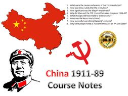 IB Authoritarian States C20th China Entire Course Notes - 43 pages