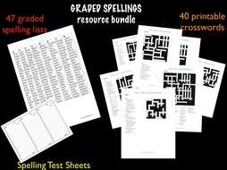 Graded Spelling and Vocabulary Resources