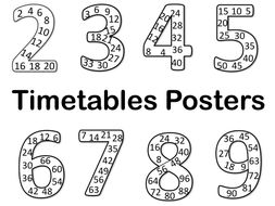 Timetables posters (skip counting)