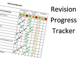 wwi revision progress tracker by ellielbrown teaching resources tes
