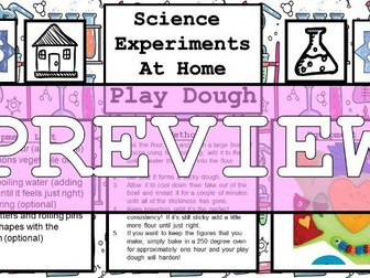 Science Home Experiment - DIY Play Dough