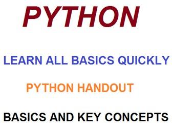 Python Basic principles and key terms