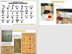 Ancient Egypt Art Graphics Task - Hieroglyphics - Line Drawing & Mark  Making - KS2/KS3 Short Cover
