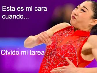 Spanish Winter Olympics 2018 Meme Activity