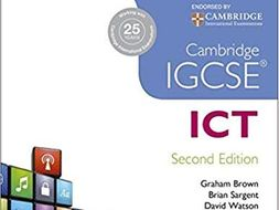 Cambridge IGCSE ICT 0417 Chapter 2 Input and Output Devices - Worksheets / Exam Questions