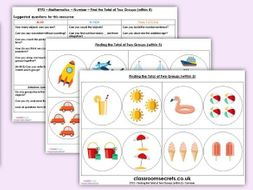 EYFS Maths Number - Find the Total of Two Groups Within 5 Planning, Resources & Observation Pack