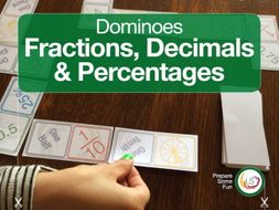 Fractominoes 2 - Fraction Decimals and Percentages