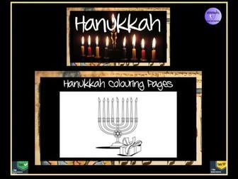 Hanukkah Colouring Pages