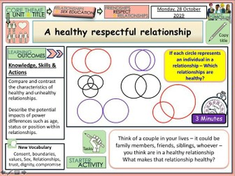 Healthy Relationships PSHE