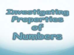 Properties of Numbers