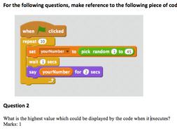 Scratch Programming Test 2 + Answers