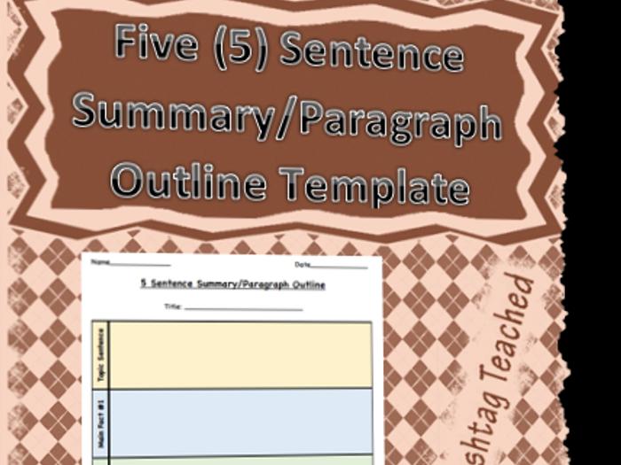 summary outline template