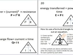Combined Science AQA Recall Physics Equation resources