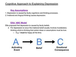 Cognitive Approach to Explaining Depression
