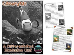 Differentiated Nonfiction Unit: Clownfish