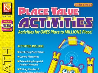 Place Value Practice for Ones Place to Millions Place