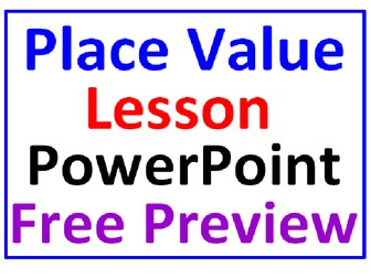 Place Value Lesson FREE PowerPoint PREVIEW
