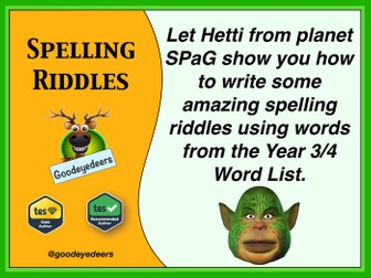 Spelling Riddles - Year 3/4 Word List
