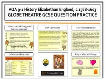Globe Theatre exam question practice AQA 9-1 GCSE