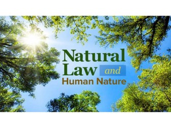 Natural Law (WJEC A Level Religious Studies)