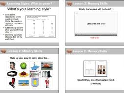 Study Skills: Learning Styles and Memory Strategies