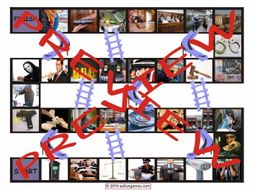 Crime, Law Enforcement and Courts Chutes and Ladders Board Game
