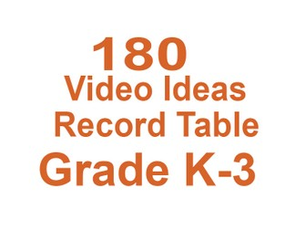 180 Videos for Grade K-3 Elementary School