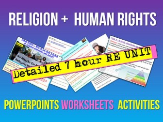 Religion,  Human Rights + Citizenship Issues Unit